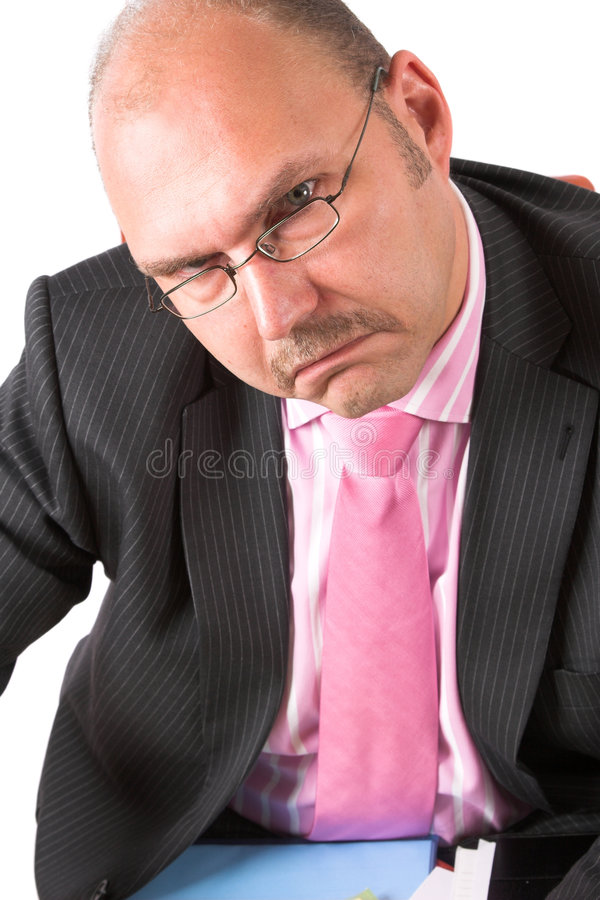 Homme d'affaires malheureux images stock