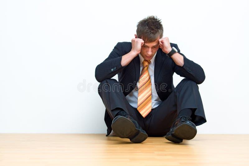 Homme d'affaires malheureux image libre de droits