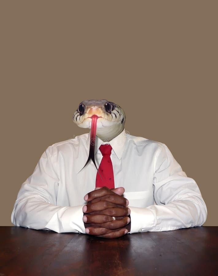 Homme d'affaires - malhonnête photo stock