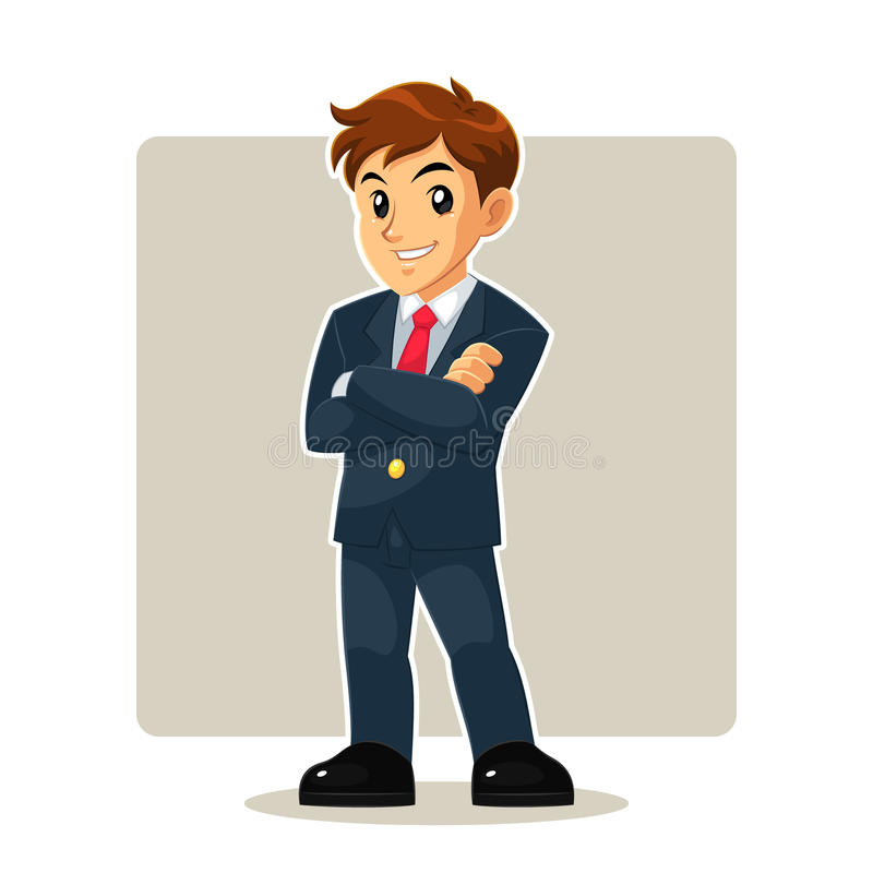 Homme d'affaires Mascot Character illustration stock
