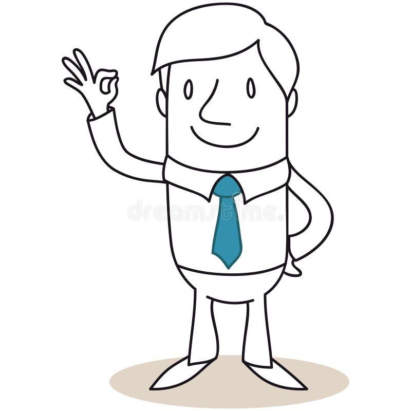 Homme d'affaires montrant le geste excellent illustration stock