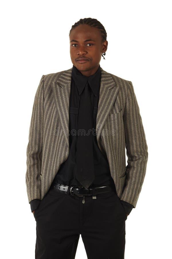 Homme d'affaires noir photos stock