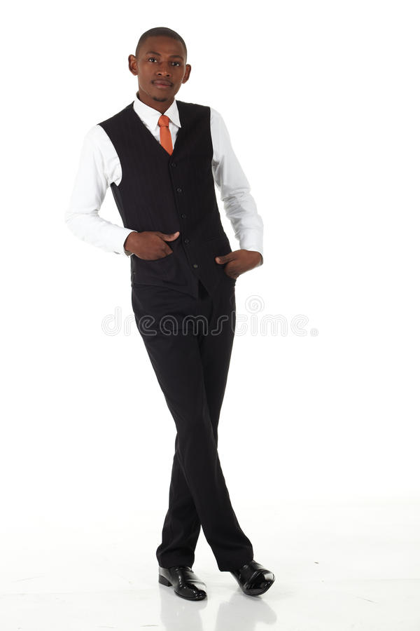 homme d'affaires noir africain photo stock
