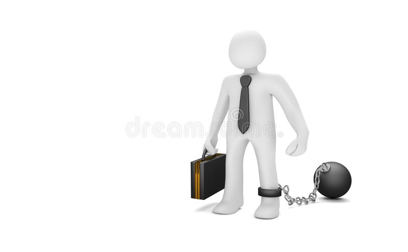 Homme d'affaires Office Prisoner illustration libre de droits