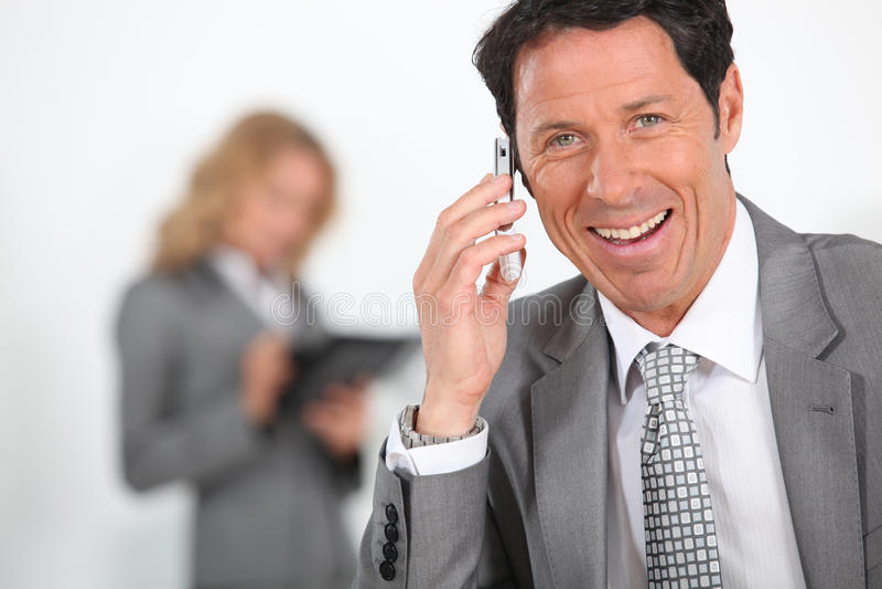 Homme d'affaires Overjoyed image libre de droits