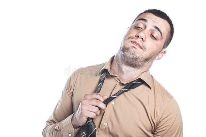 Homme d'affaires paresseux photo libre de droits