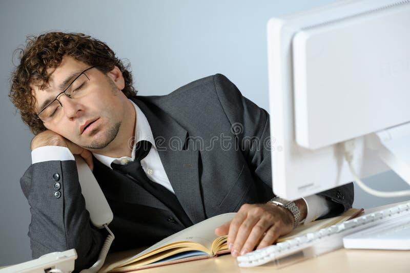 Homme d'affaires paresseux photos stock