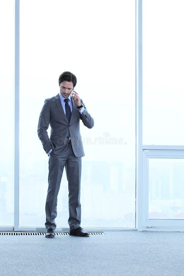 Download Homme D'affaires Parlant Par Le Téléphone Photo stock - Image du professionnel, regarder: 76082432