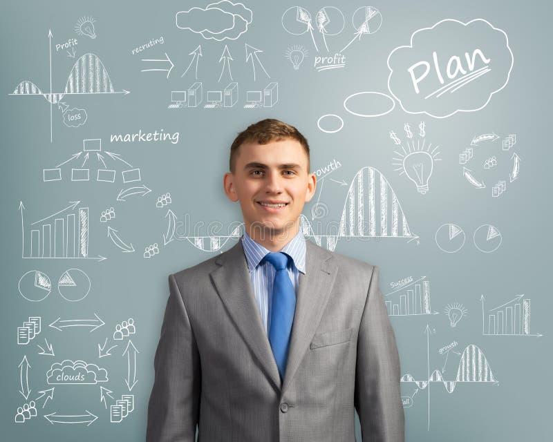 Homme d'affaires pensant à l'innovation dans les affaires images libres de droits