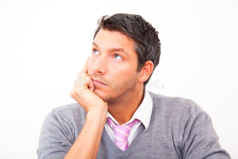 Homme d'affaires pensant images libres de droits