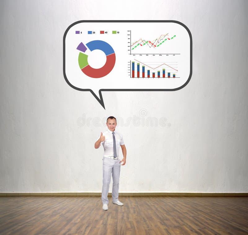 Homme d'affaires pensant aux affaires image stock