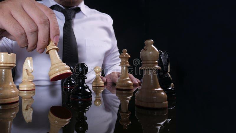 Homme d'affaires Playing Chess photos libres de droits