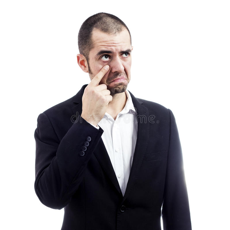 Homme d'affaires pleurant images stock