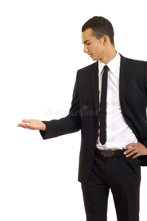 Homme d'affaires présentant un exposé photo libre de droits