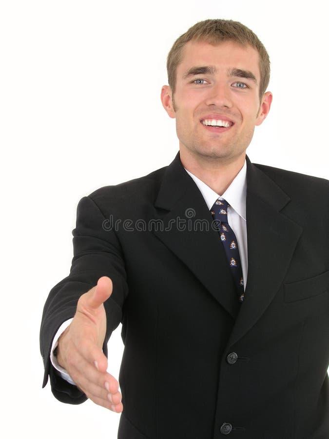 Homme d'affaires prêt à se serrer la main photo libre de droits