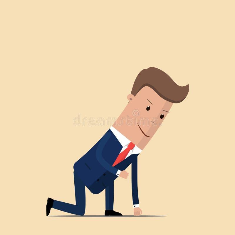 Homme d'affaires prêt à sprinter Illustration de vecteur illustration libre de droits