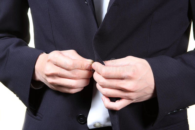 Homme d'affaires réglant son procès image libre de droits