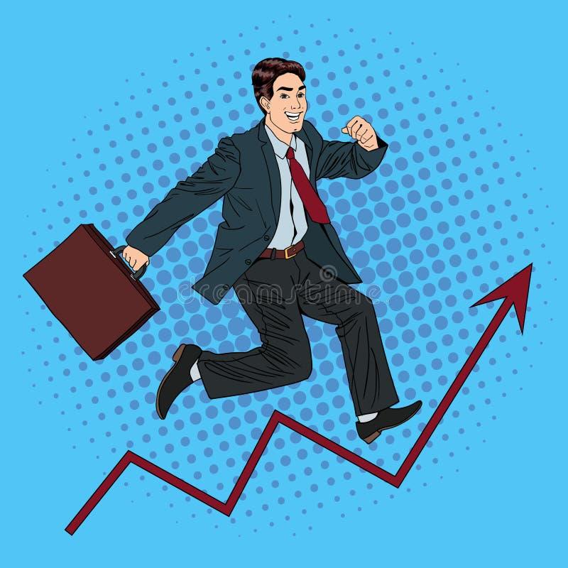 Homme d'affaires réussi Croissance de carrière Succès dans les affaires illustration stock
