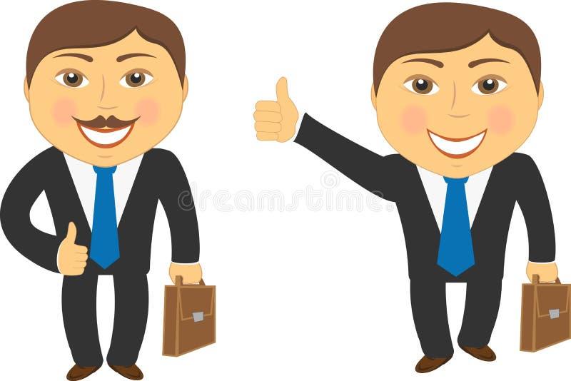 Homme d'affaires réussi de deux dessins animés illustration de vecteur