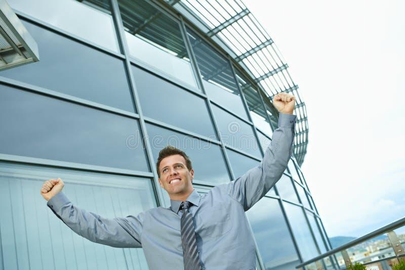 Homme d'affaires réussi heureux image libre de droits