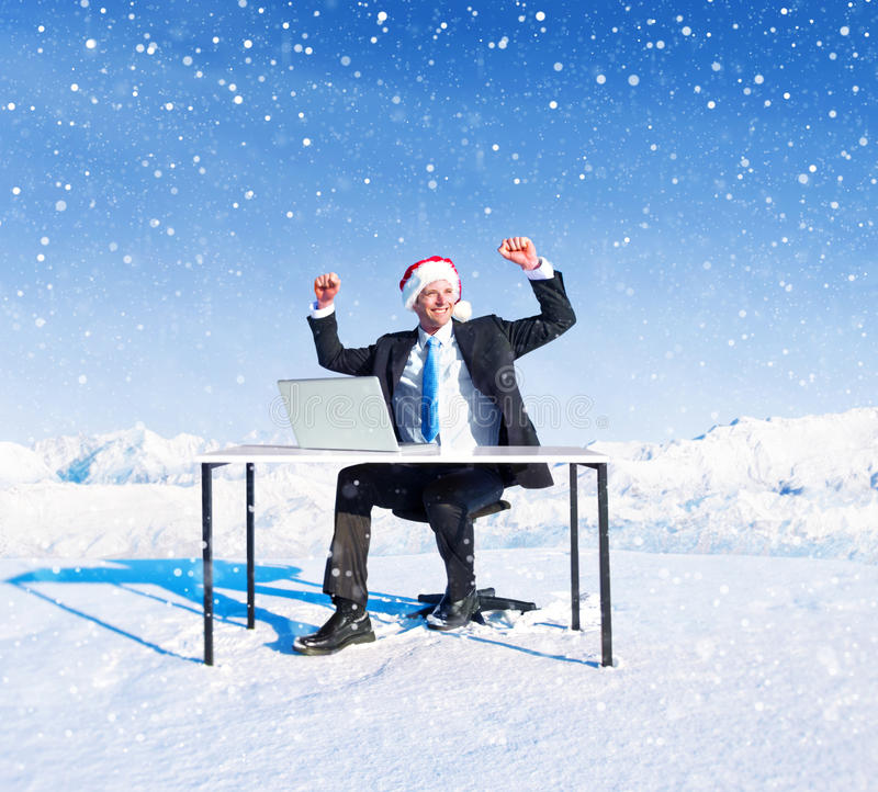 Download Homme D'affaires Ready Pour Noël Photo stock - Image du adulte, affaires: 45370332
