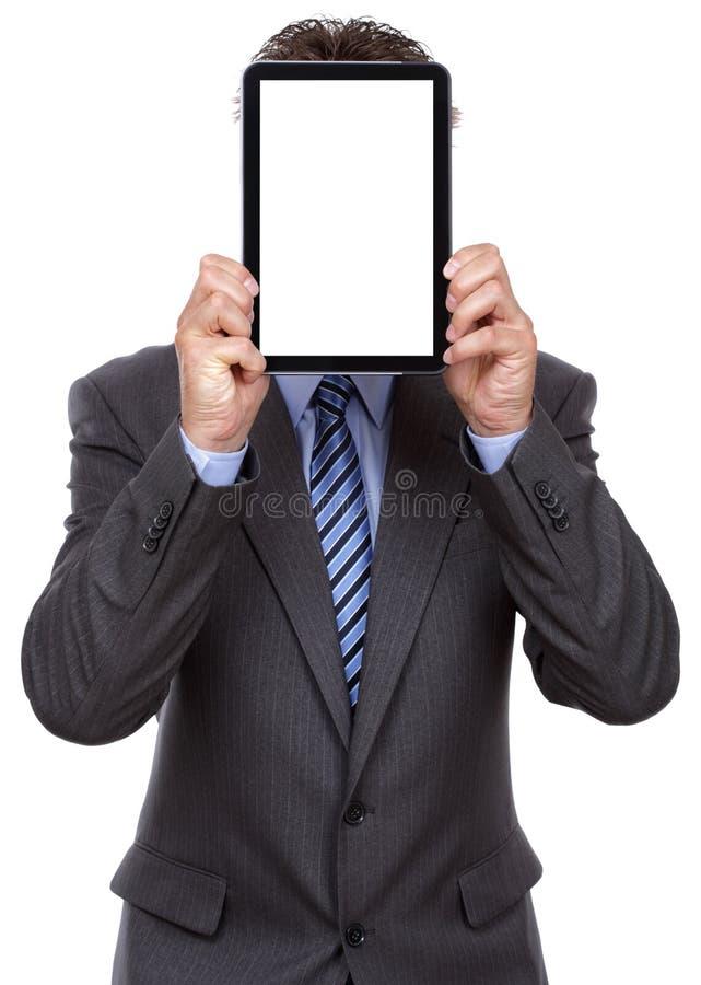 Homme d'affaires retenant la tablette digitale photos libres de droits
