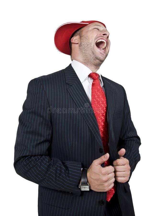 Homme d'affaires riant images libres de droits