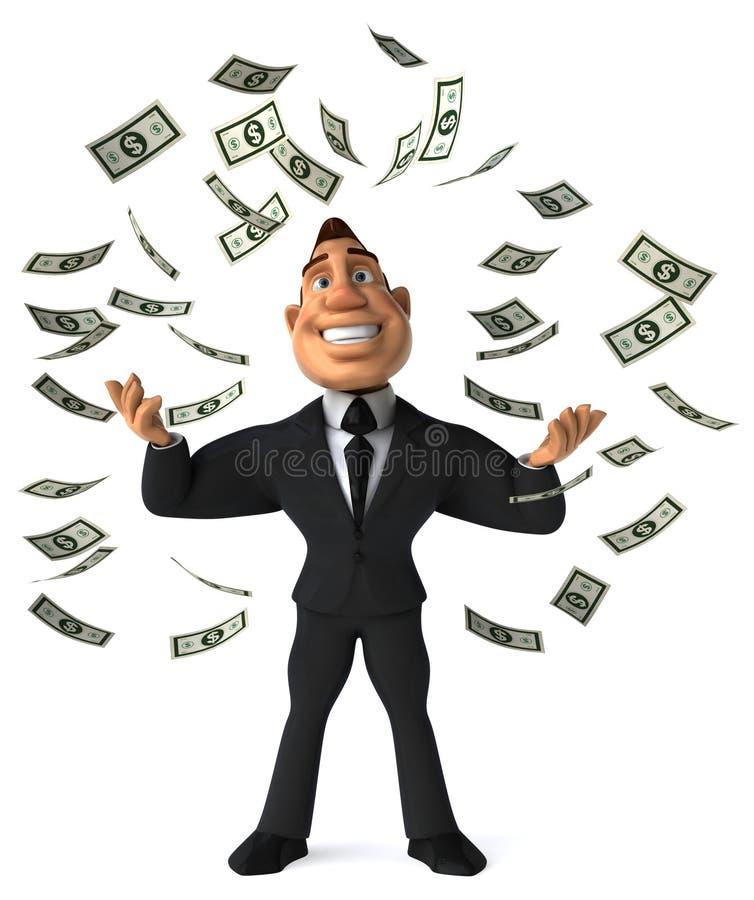 Homme d'affaires riche illustration de vecteur