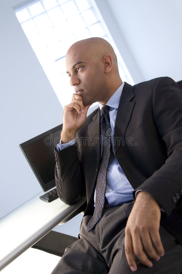 Homme d'affaires sérieux images stock
