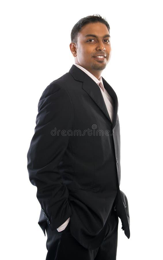 Homme d'affaires sûr de l'Indien 30s photos stock