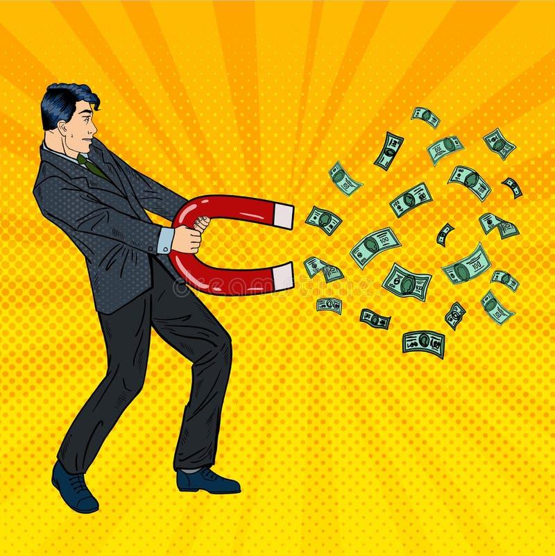 Download Homme D'affaires Sûr Attracts Money Avec Un Grand Aimant Art De Bruit Illustration de Vecteur - Illustration du dollar, heureux: 76086735
