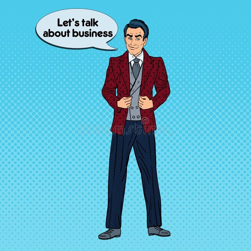 Download Homme D'affaires Sûr Bel Portrait Art De Bruit Illustration de Vecteur - Illustration du affaires, confiance: 76086687
