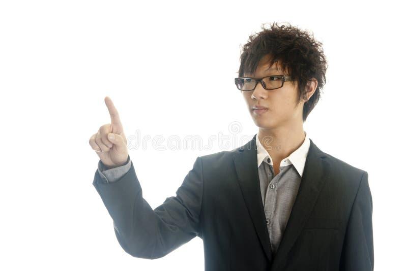 Homme d'affaires se dirigeant à l'espace de copie image libre de droits