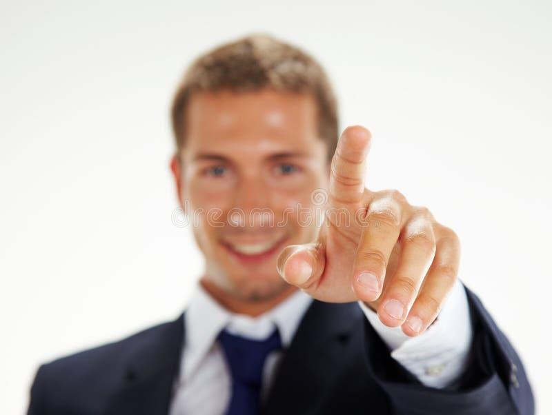 Homme d'affaires se dirigeant à vous images stock
