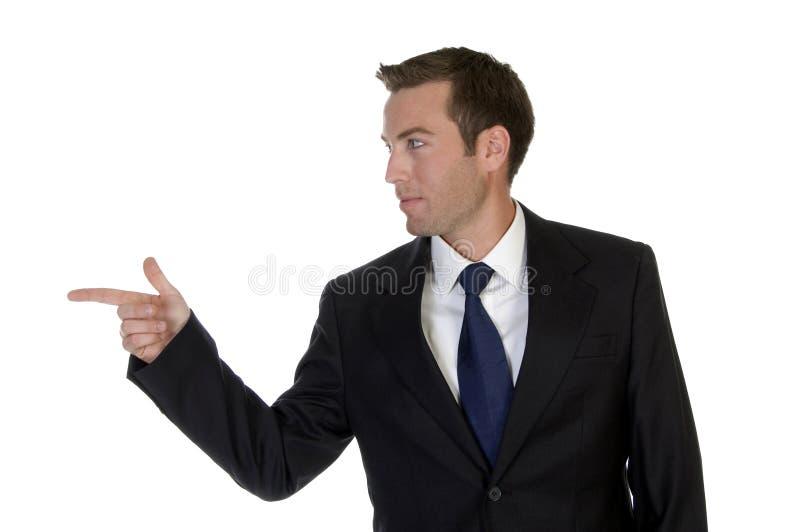 homme d'affaires se dirigeant de côté photographie stock