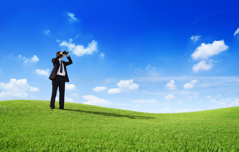 Homme d'affaires Searching photo stock