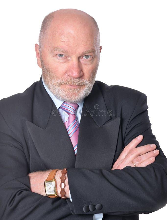 Homme d'affaires supérieur images libres de droits