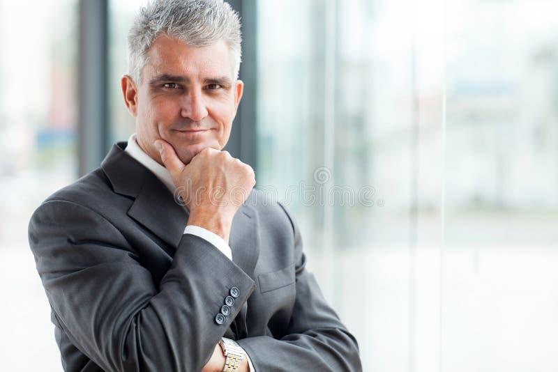 Homme d'affaires supérieur réussi photos stock