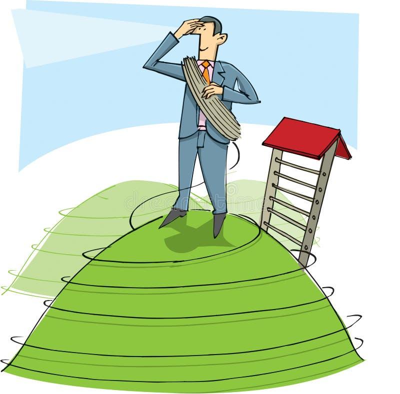 Download Homme D'affaires Sur La Côte Illustration Stock - Illustration du symbolisme, câpre: 8662439