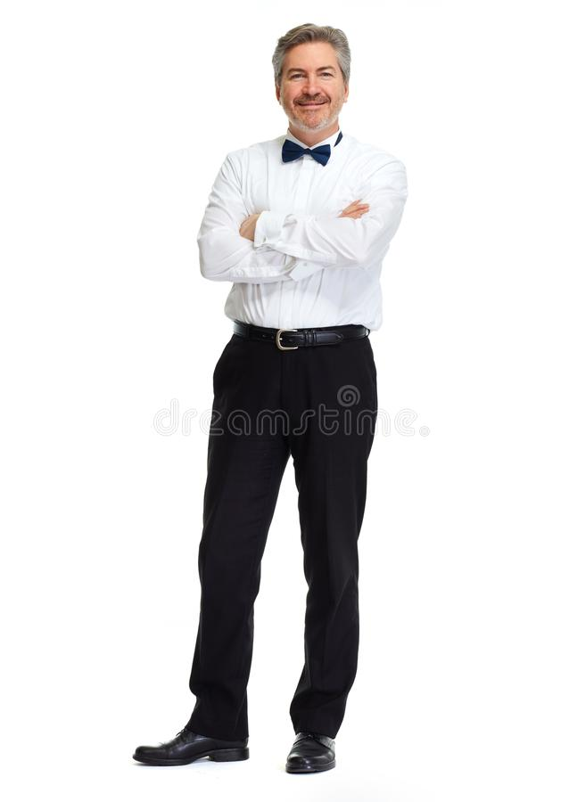 Homme d'affaires sur le fond blanc images stock
