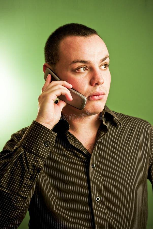 Homme d'affaires sur le téléphone portable photos libres de droits