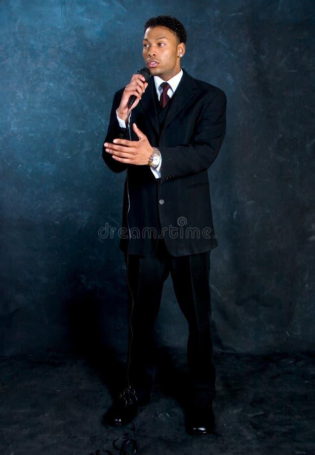 Homme d'affaires - temps de la parole photos libres de droits