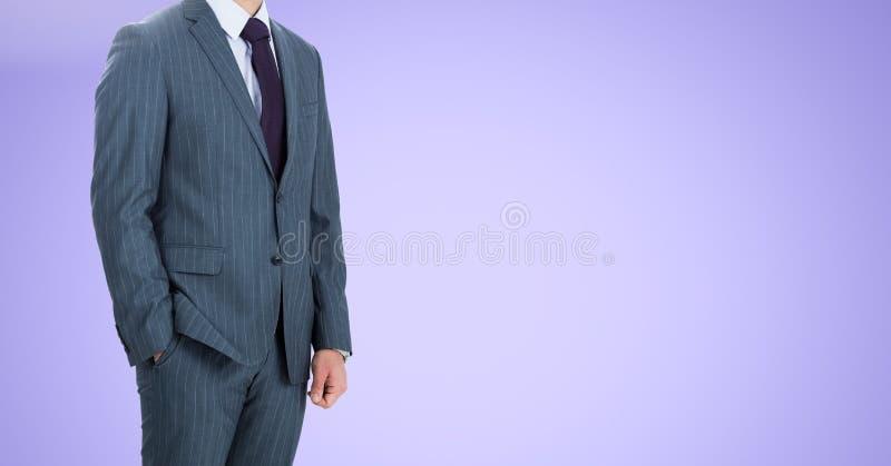 Homme d'affaires Torso sur le fond neutre illustration stock