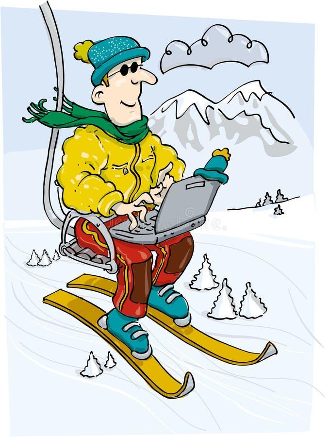 Download Homme D'affaires Travaillant Avec L'ordinateur Illustration Stock - Illustration du affaires, cuisine: 8662407