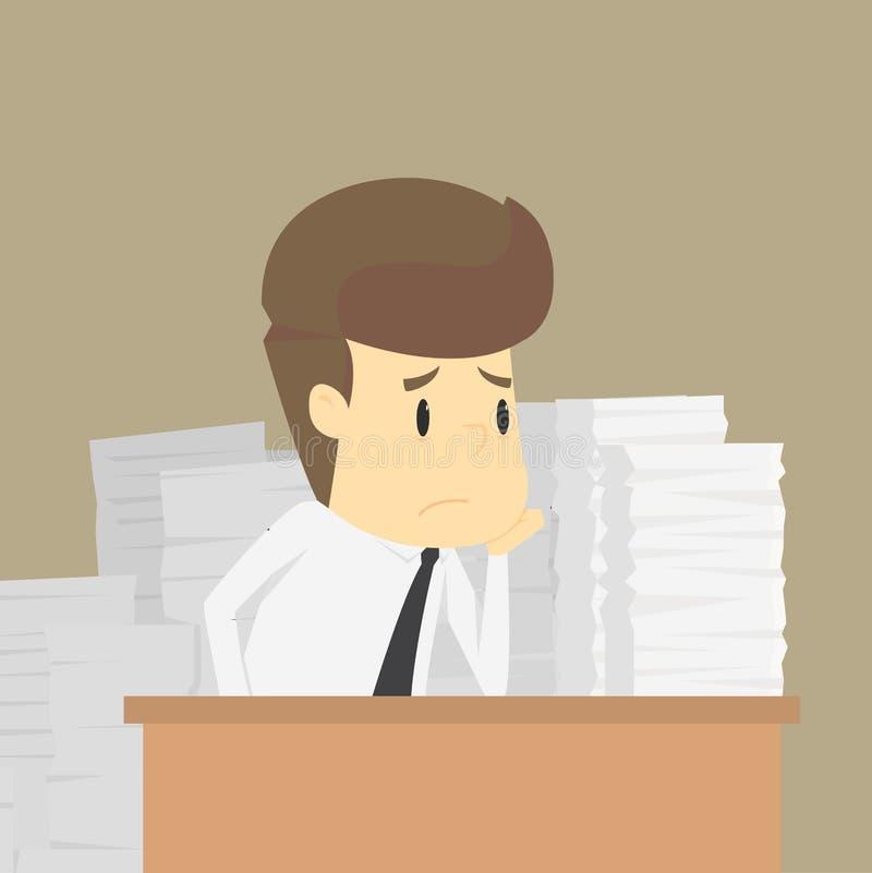 Homme d'affaires travaillant dur Vecteur ESP10 illustration libre de droits