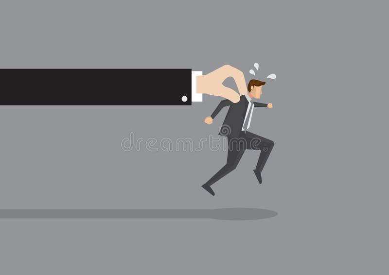 Homme d'affaires Tries à échapper illustration libre de droits