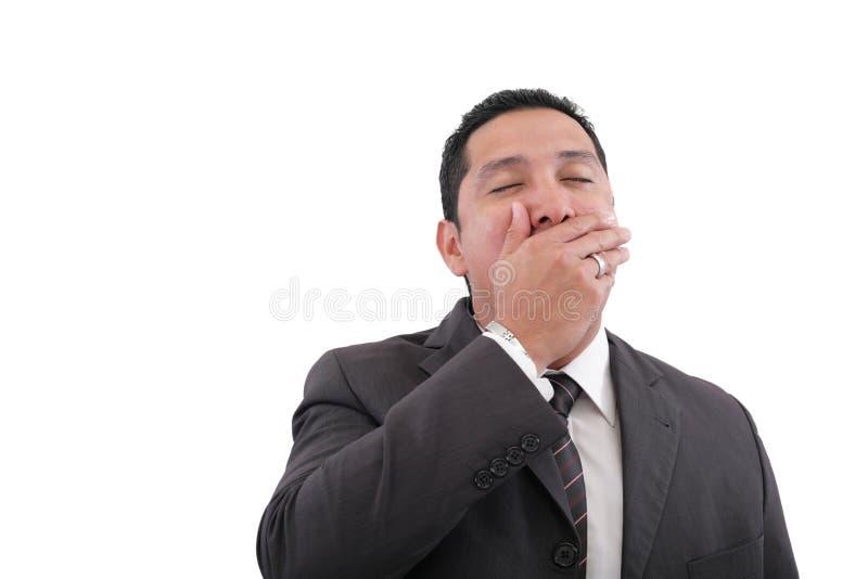 Homme d'affaires épuisé photographie stock libre de droits