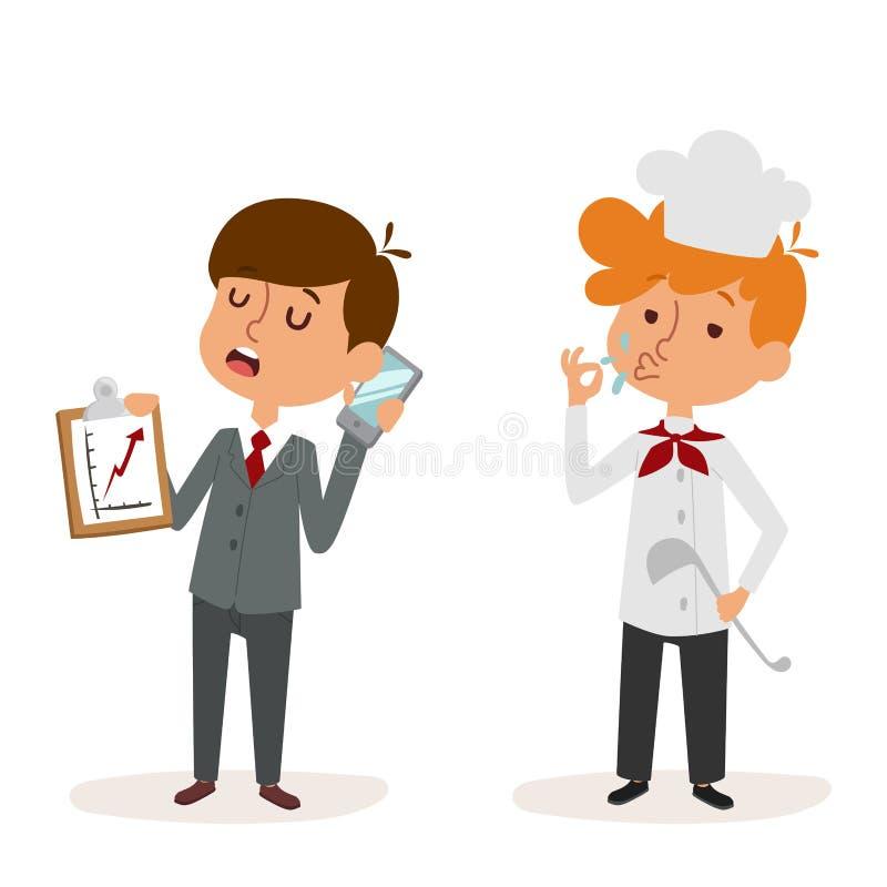 Homme d'affaires uniforme de docteur de caractère de travailleur d'illustration de vecteur d'enfants d'enfants de profession de b illustration stock