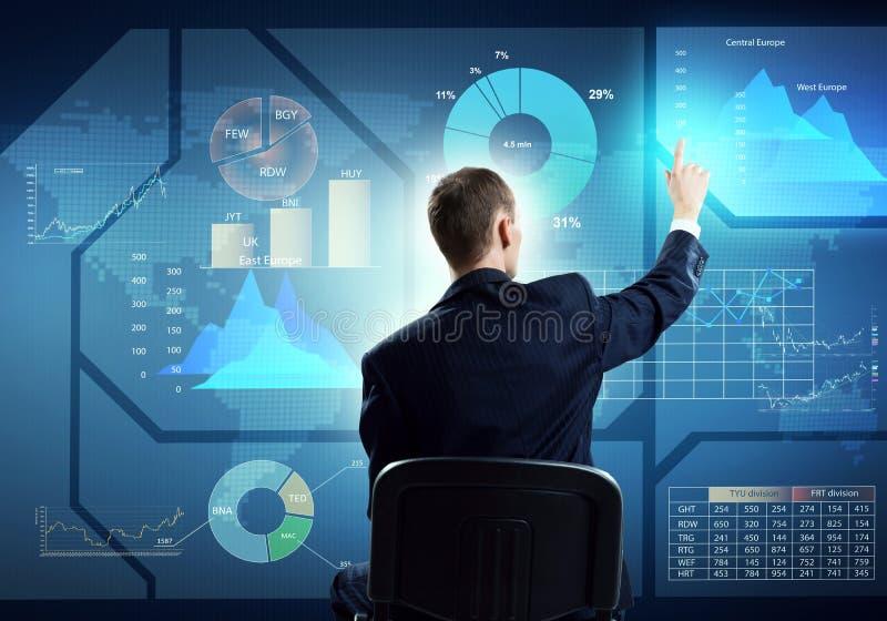 Download Homme D'affaires Utilisant L'interface De Media Image stock - Image du analyse, businessman: 77153439