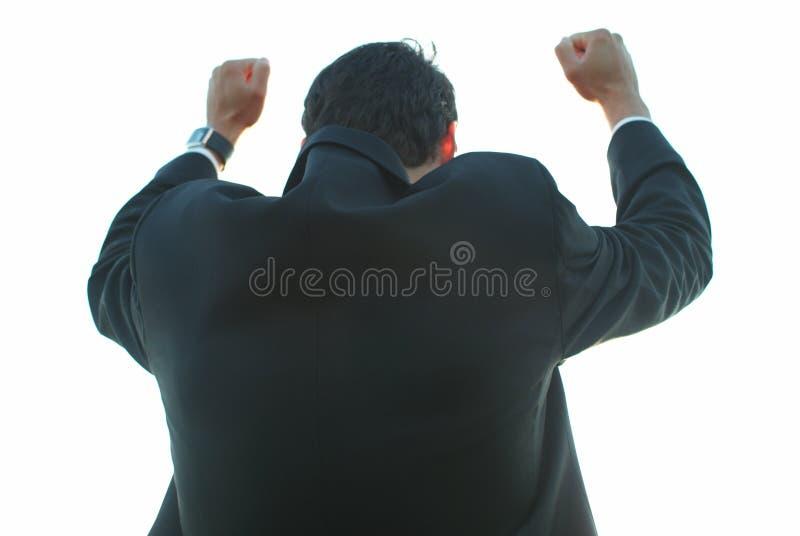 Homme d'affaires victorieux images libres de droits